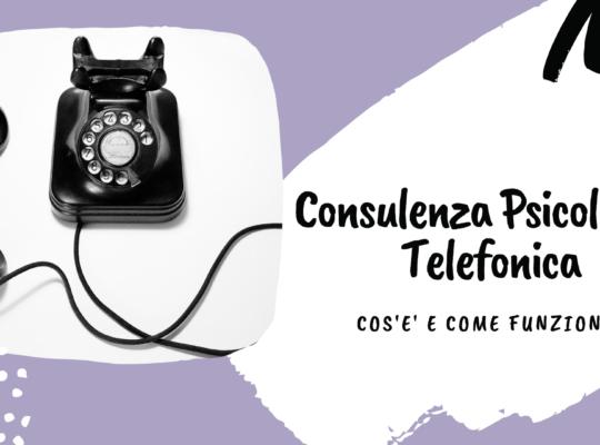 Consulenza psicologica telefonica