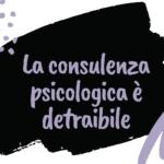 Consulenza psicologica detraibile