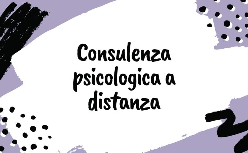 consulenza psicologica a distanza