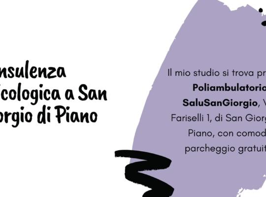 consulenza psicologica San Giorgio di Piano